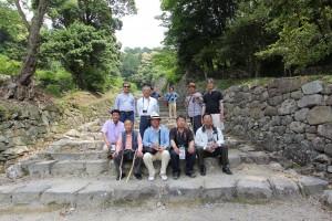 安土城址の階段